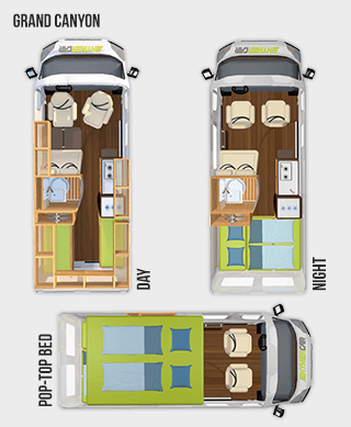 Hymercar Grand Canyon Floorplan