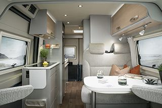 Hymercar Free 600 Living Area