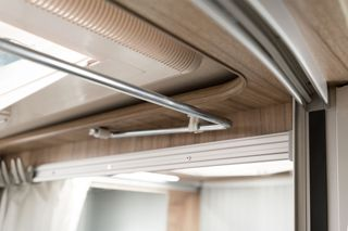 Hymer Yosemite Curtain Track Detail