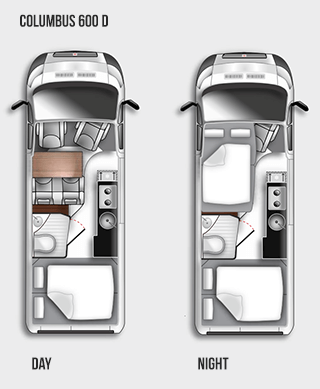 Westfalia Columbus 600 D Floorplan