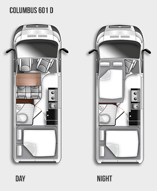 Westfalia Columbus 601 D Floorplan