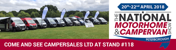 Come and see Campersales Ltd at the National Motorhome & Campervan Show 2018 in Peterborough